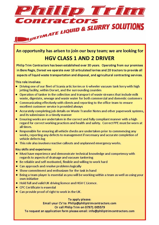 lorry driver cv