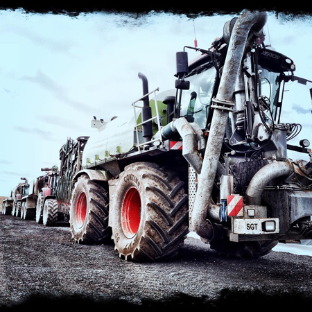 Slurry equipment convoy
